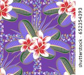 tropical seamless pattern with...   Shutterstock . vector #652354393