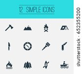vector illustration set of... | Shutterstock .eps vector #652355200