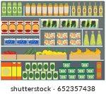 supermarket  shelf  shelves ... | Shutterstock .eps vector #652357438
