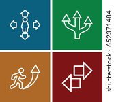 forward icons set. set of 4...