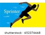 sprinter leaving on the running ... | Shutterstock .eps vector #652376668