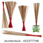 incense on isolate and white... | Shutterstock . vector #652377748