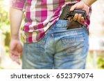 man with gun | Shutterstock . vector #652379074
