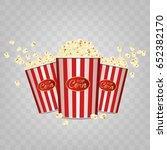 pop corn. realistic. vector... | Shutterstock .eps vector #652382170