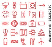 electricity icons set. set of... | Shutterstock .eps vector #652382560