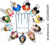 kid with chef hat culinary... | Shutterstock . vector #652383649