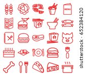 meal icons set. set of 25 meal... | Shutterstock .eps vector #652384120