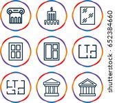 architectural icons set. set of ... | Shutterstock .eps vector #652384660