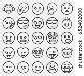 emoticon icons set. set of 25... | Shutterstock .eps vector #652402000