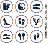 pair icons set. set of 9 pair... | Shutterstock .eps vector #652407280
