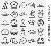 hat icons set. set of 25 hat... | Shutterstock .eps vector #652407304