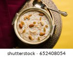 khir or kheer payasam also... | Shutterstock . vector #652408054