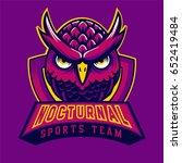 purple owl mascot logo   Shutterstock .eps vector #652419484