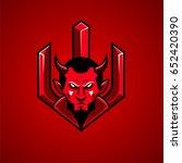 red devil mascot logo | Shutterstock .eps vector #652420390