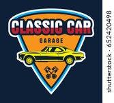 classic car logo | Shutterstock .eps vector #652420498
