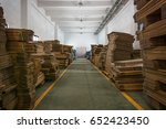 cardboard boxes stored | Shutterstock . vector #652423450