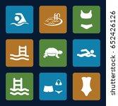 swim icons set. set of 9 swim... | Shutterstock .eps vector #652426126