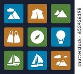 adventure icons set. set of 9... | Shutterstock .eps vector #652426198