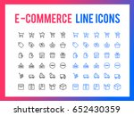 online shopping vector line...