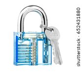 blue color transparent padlock... | Shutterstock . vector #652431880