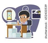 tired african businesswoman... | Shutterstock .eps vector #652433539
