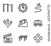 motion icons set. set of 9... | Shutterstock .eps vector #652436770