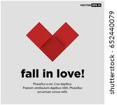 fall in love motivational feel...   Shutterstock .eps vector #652440079