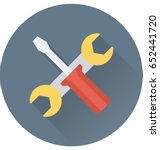 repair tools vector icon | Shutterstock .eps vector #652441720