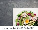 homemade fresh spring salad...
