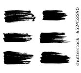 ink vector brush strokes set.... | Shutterstock .eps vector #652453390