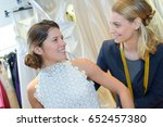 Small photo of final gown adjustment