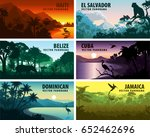 vector set of panoramas... | Shutterstock .eps vector #652462696