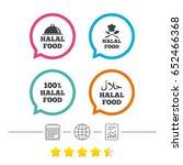 halal food icons. 100  natural...