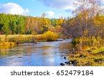 Autumn Forest River Landscape