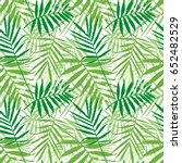 tropical palm leaves  jungle... | Shutterstock . vector #652482529