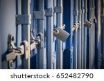 close up view  of a row of... | Shutterstock . vector #652482790