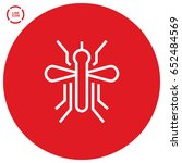 mosquito insect line vector icon | Shutterstock .eps vector #652484569
