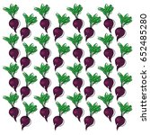 beetroot background vector | Shutterstock .eps vector #652485280