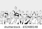 illustration of festival crowd... | Shutterstock .eps vector #652488148
