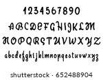 vector alphabet. calligraphic... | Shutterstock .eps vector #652488904