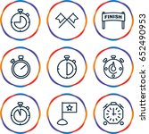 finish icons set. set of 9... | Shutterstock .eps vector #652490953