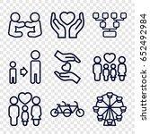 family icons set. set of 9... | Shutterstock .eps vector #652492984