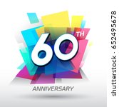 60 years anniversary with... | Shutterstock .eps vector #652495678