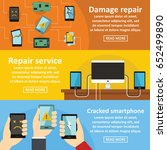 repair cellphone banner... | Shutterstock .eps vector #652499890