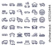 automobile icons set. set of 36 ... | Shutterstock .eps vector #652510444
