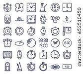 clock icons set. set of 36... | Shutterstock .eps vector #652510450