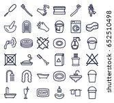 wash icons set. set of 36 wash... | Shutterstock .eps vector #652510498