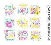 short possitive messages...   Shutterstock .eps vector #652511974