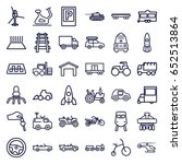 vehicle icons set. set of 36... | Shutterstock .eps vector #652513864