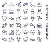 Sky Icons Set. Set Of 36 Sky...